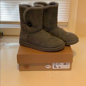 Grey Ugg Bailey Button boots